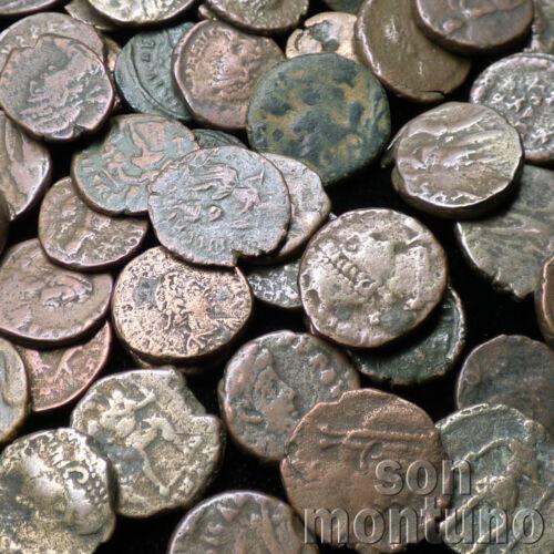 ONE SMALL Authentic Ancient ROMAN EMPIRE BRONZE COIN Genuine Antique 240-410 AD