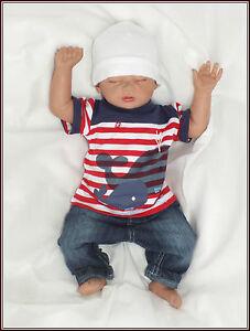 Algodon-bebe-juego-de-2-Pantalones-Vaqueros-Camiseta-de-manga-corta-talla-56-62