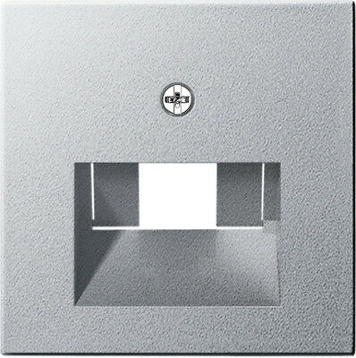 Gira System 55 aluminium, ABDECKUNG IAE/UAE 027026 für Datendosen
