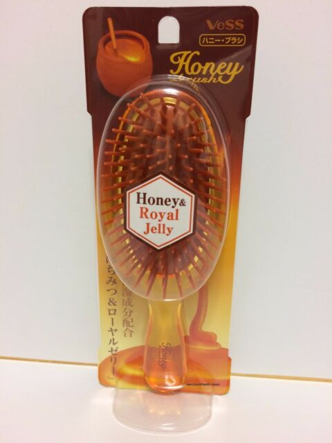 Vess Honey And Royal Jelly Cushion Brush Hair Care Comb From Japan