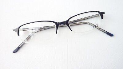 Brillenfassung Halbrand Kunststoff-brille Schwarz Neu Mit Schmaler Form Gr. S