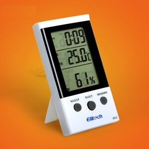 3 PCS Thermometer Elitech DT-2 Digital LCD Temperature Humidity Hygrometer