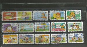 Series-de-timbres-autoadhesifs-034-Le-chat-Garfield-034-2008-et-sourires-2007