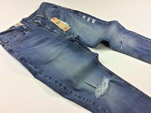 Levi-039-s-Levis-Uomini-541-Athletic-conici-con-effetto-invecchiato-Strappato-Jeans