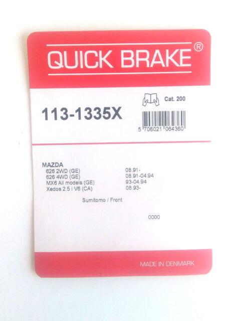 Quick Brake 113-1335X Kit pour Plaquettes de Frein Akebono