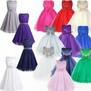 700495d11cf5 Christening Bridesmaid Wedding Pageant Communion Flower Girl Dresses ...