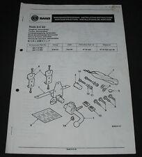 Einbauanleitung Saab 9-5 4D Anhängerkupplung abnehmbar Towbar demountable 2000!