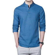 d6457d691af item 2 Men Long Sleeve Blouse Shirt Slim Henley Plain T-Shirt Tee Casual Tops  Plus Size -Men Long Sleeve Blouse Shirt Slim Henley Plain T-Shirt Tee  Casual ...