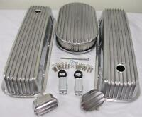 Aluminum Air Cleaner + Aluminum Valve Covers Tall Retro Cal Custom Bb Chevy