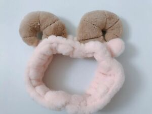 Women-Kid-Child-Pink-Sheep-Goat-Ear-Costume-Party-Fluffy-Hair-head-band-Prop