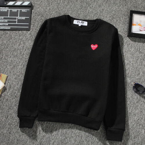 2020 Men/'s Comme Des Garcons CDG Play Hoodie red heart Sweater Play Women Coat