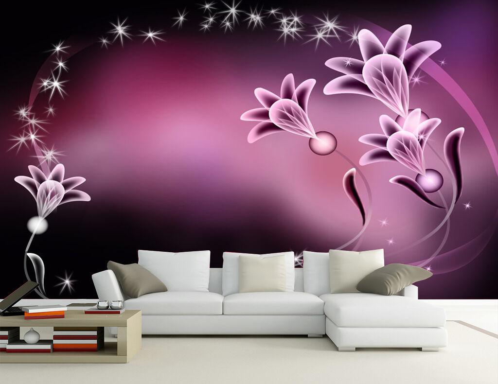 3D Die sterne und blumen  Fototapeten Wandbild Fototapete BildTapete Familie DE