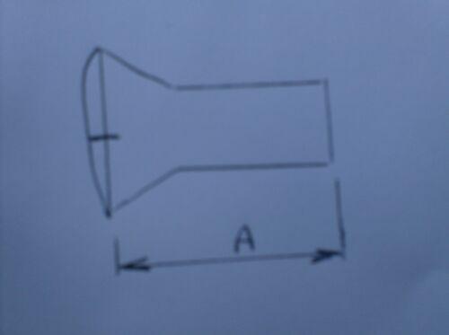 "RAISED COUNTERSUNK SLOT SCREWS 7//16/"" UNF X 1/"" LONG"