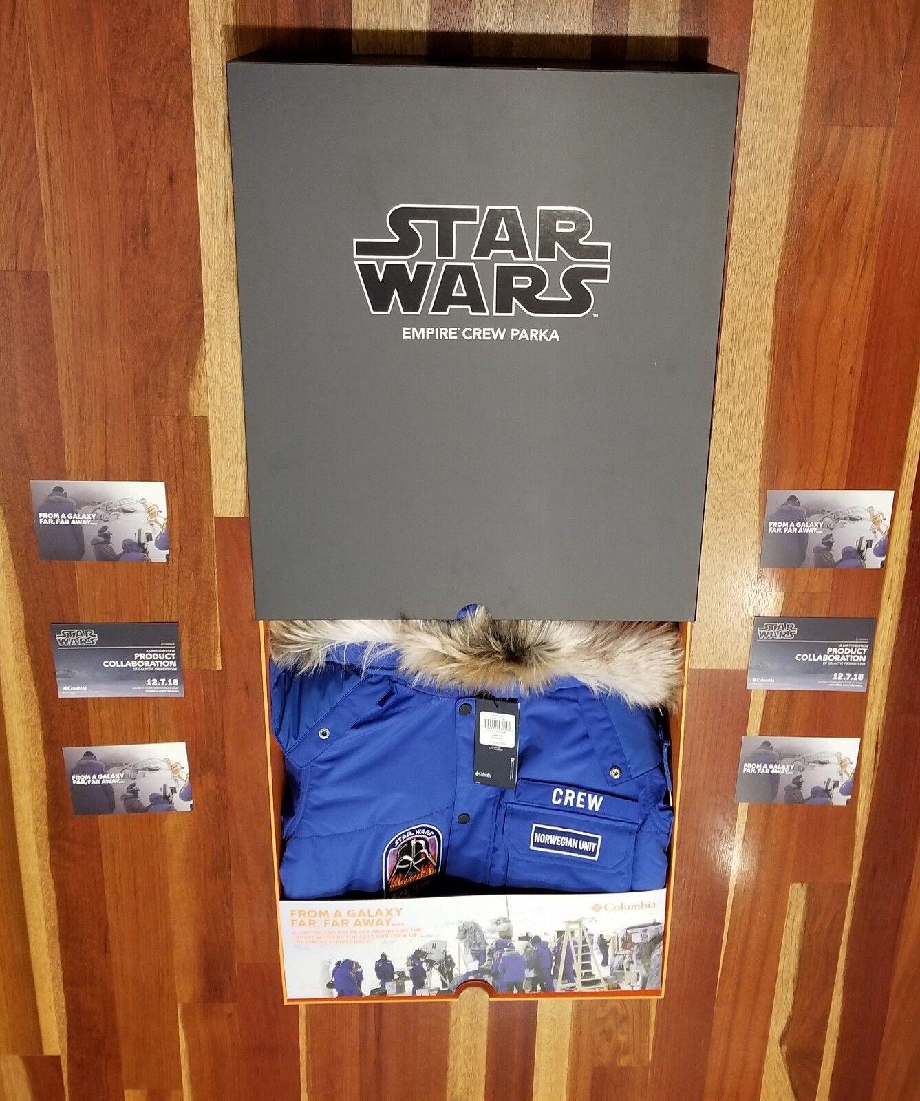 Star Wars Empire Crew Parka Columbia Medium Ready to Ship w FREE BONUS ITEMS