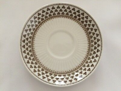 Adams Adams Ironstone 'sharon' Replacement Saucer In Brown Sales Of Quality Assurance Pottery