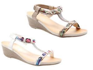 SéRieux Compensées Sandales Strass Sangle Arrière Femmes Loisirs Chaussures Mules-afficher Le Titre D'origine Acheter Un Donner Un
