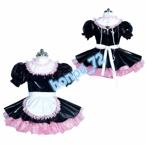 Sissy Maid PVC dress Romper sissy boy CD//TV Tailor-made