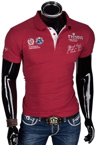 SHIRT Camicia Festa Slim Uomo a Maniche Corte Nuovo Pique WOW polo NEW maglia polo t-shirt