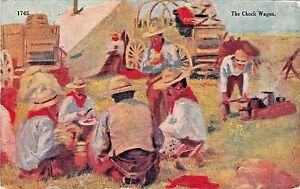 THE-CHUCK-WAGON-W-SCHULTZ-ARTIST-DRAWN-1910-COWBOY-POSTCARD