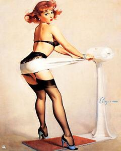 Fitness Pub Bar Pin Up Girl Shabby Chic Retro Enamel Metal Tin Sign Wall Plaque Mz9na2lv-08000812-401207978