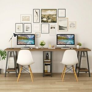 94 5 Extra Long Two Person Desk With