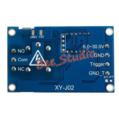 DC9V 12V 24V LED Display Trigger Cycle Delay Timing Timer Relay Switch Micro USB