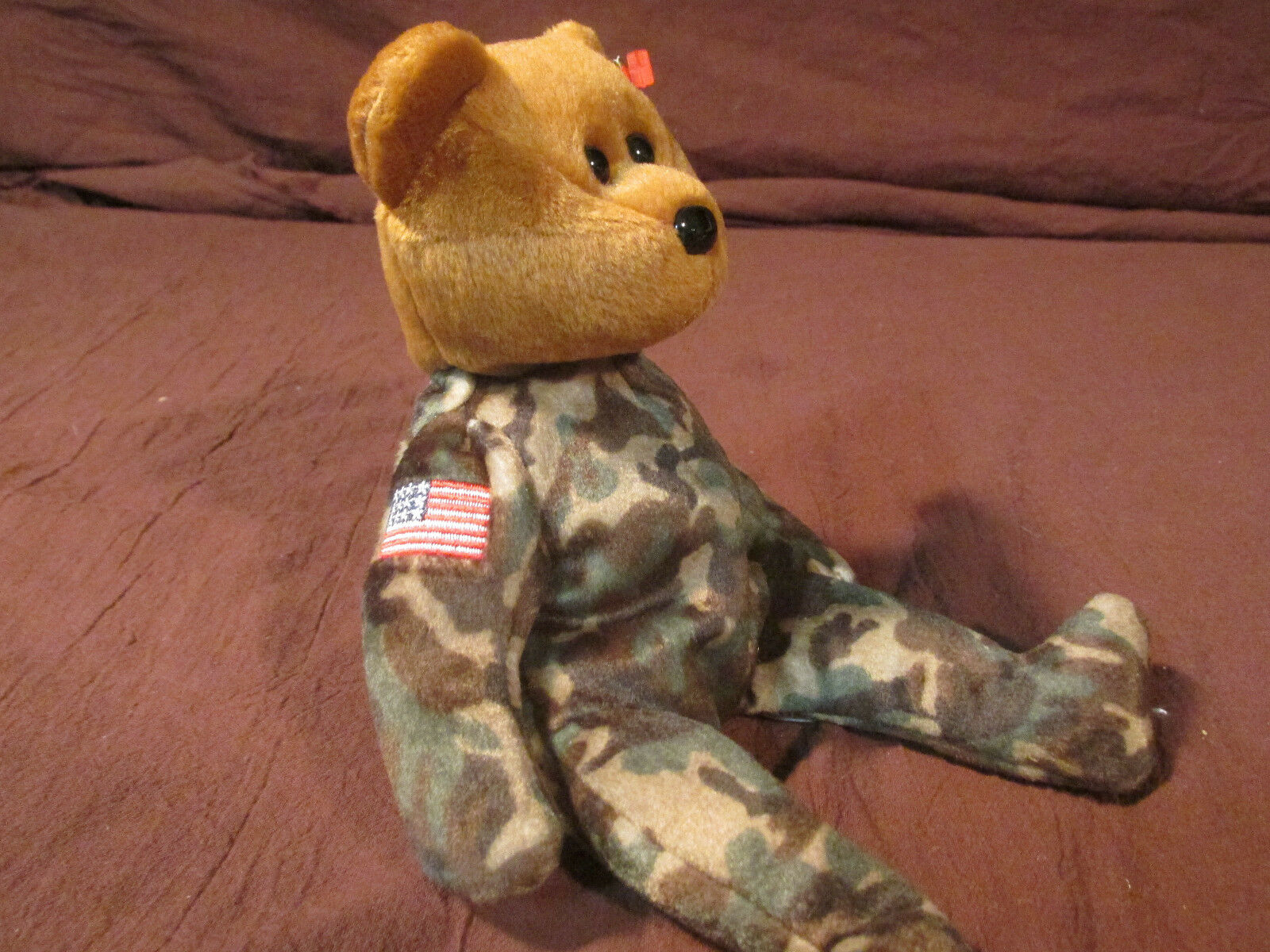 TY Beanie Baby Baby Baby Bear HERO set 2003 USO  USA Great Britain Camouflage Army Marine a4d791