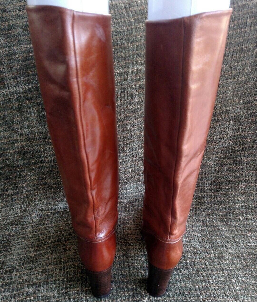 Charles Jordan 18  equestrian marron leather high high high heeled knee-high bottes Taille 7 c590cd