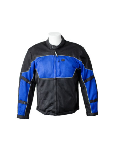 RoadDog Hurricane Mesh Motorcycle Riding Jacket Blue Men/'s