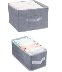 2 x Aufbewahrungsbox Ordnungsbox Kiste Organizer Vlies Regal - Box Regalkorb