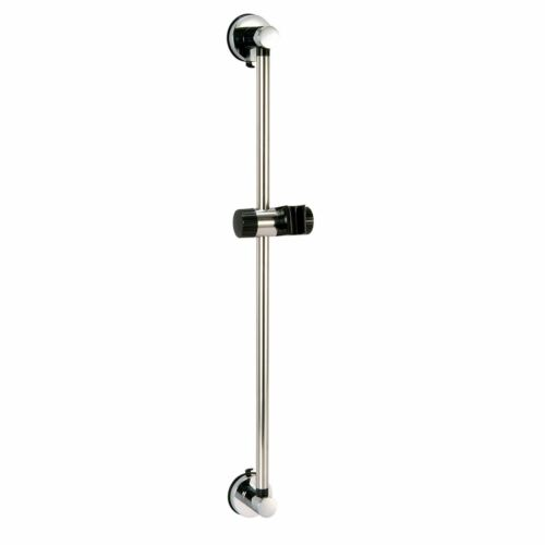 """No Drilling /""""Axis/"""" Chrome /& Black Super Suction Bathroom Wall Accessories"""