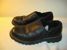 UGG Australia Westside Black Leather Shearling Lined Loafer Shoes 5356 - US 7