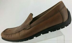 Ecco Driving Shoes Brown Leather