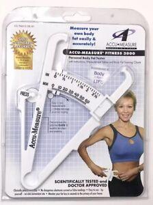 Accu-Measure Fitness 3000 Personal Body Fat Tester Caliper Tool BMI New
