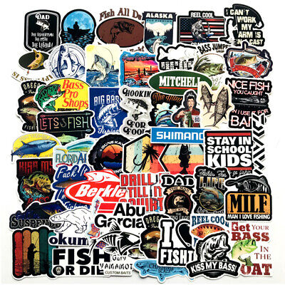 Fishing Sticker Pack Bomb Fish Hunt Boat Laptop Mac Car Vinyl Decals Bass Pro
