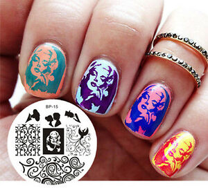 Image Is Loading Born Pretty Nail Art Stamping Plate Marilyn Monroe