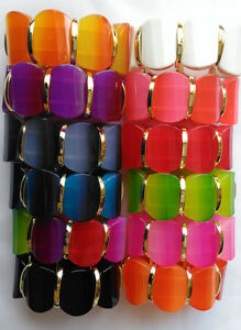 New-Colourful-Fashion-Bracelet-Stretchy-Bangle-Multi-Bead-Cord-Funky-fits-all-D3