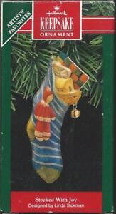 Mice in Christmas Stocking #QX6652-DB Hallmark Keepsake Ornament 1997 New Home
