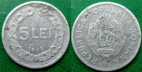 5 lei 1948 Romania Coin Low Shipping Combine FREE!