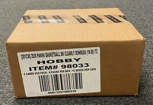 2019-20 Panini Clearly Donruss Basketball Hobby 12-Box Case Unopened Zion RC YR