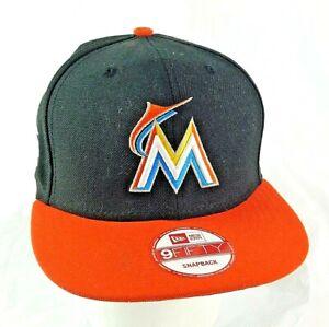 Miami Marlins MLB New Era Baseball Cap Black & Orange Adjustable Friction Buckle