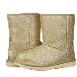 UGG Boots Kids classic short II Glitter