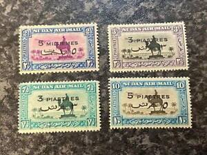 SUDAN-AIR-MAIL-STAMPS-SG74-77-1938-UN-MOUNTED-MINT