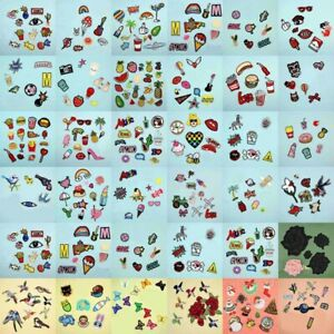 Lot Iron Sew On Patches Set Bulk Embroidered Repair Patch For Clothing Applique
