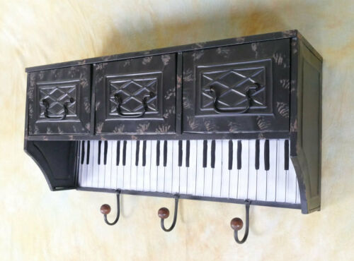 Hängeregal Garderobe Hängegarderobe Wandregal Klavier Haken Regal  E00230-a