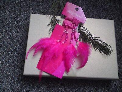 2er Haargummis _ Pink Mit Federn _ Neu Kaufe Jetzt