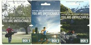 Dicks Sporting Goods Lot of (3) Gift Cards No $ Value Collectible ...