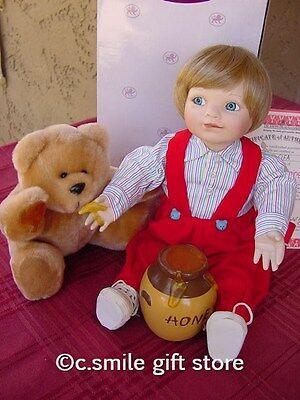 Ashton Drake Porcelain Doll *SAMMY & SHARING BEAR* Ltd Ed MIB w/COA RARE!!