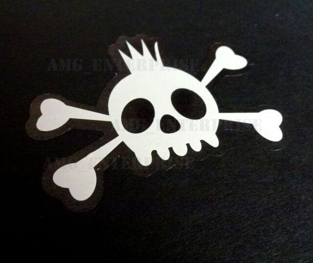 Punk Boy Skull White Vinyl Decal Window Sticker for Ford Puma Transit Ranger TDi