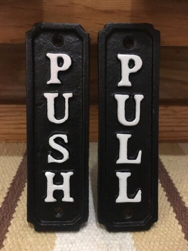 Door Pull Push Signs General Store Groceries Country Gas Station Fuel Oil Auto